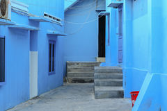 Blue houses at Hon Khoi fishing village in Phan Thiet, Vietnam Stock Photography