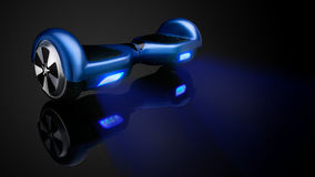 Blue hover board Royalty Free Stock Photography