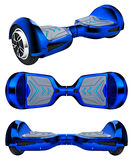 Blue hover board Royalty Free Stock Images