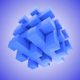 Blue hovering jigsaw puzzle Stock Images