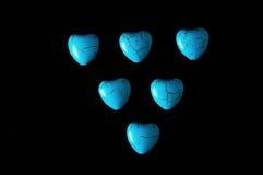 Blue Howlite Turquoise Gem Stone Royalty Free Stock Photography