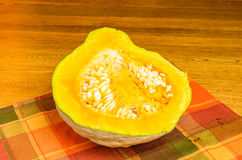 Blue Hubbard squash half Royalty Free Stock Photography