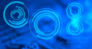 Blue HUD abstract futuristic background Stock Image