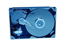 Blue hue Hard Drive. Upright hard drive Royalty Free Stock Image