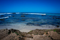 Blue Hues. Sunny Day at Windansea Beach stock photos