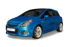Blue Hybrid Car Royalty Free Stock Image