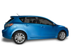 Blue  Hybrid Car Stock Images
