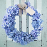 Blue hydrangea flower wreath Royalty Free Stock Images