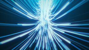 Blue Hyperspace Jump stock images