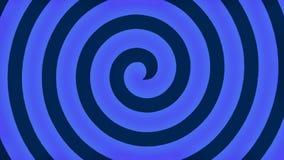 Blue hypnosis spiral loop stock footage