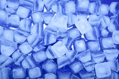 Blue ice. Close up of some ice cubes with blue hue stock photography
