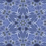 Blue ice. Flower mandala in blue ice style Stock Images