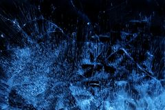 Blue Ice. Abstract background of blue ice royalty free stock photo