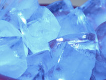 Blue Ice. Bowl of blue ice cubes Stock Photography