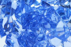 Blue ice. By the closeup Stock Image
