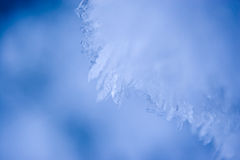 Blue Ice. Crystals - frozen snow in winter stock photos