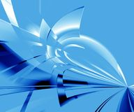 Blue ice abstract Royalty Free Stock Image