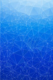 Blue ice abstract background polygon. Stock Photo