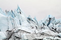 Blue Ice of Alaska's Matanuska Glacier Royalty Free Stock Images