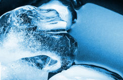 Blue ice. A background of blue crystals of ice royalty free stock images