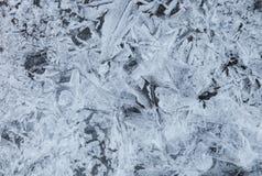 Blue ice background Stock Photo