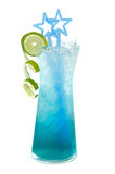 Blue ice beverage Royalty Free Stock Photo