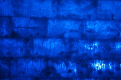 Blue ice brick wall background Royalty Free Stock Image