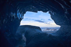 Blue ice cave Royalty Free Stock Image