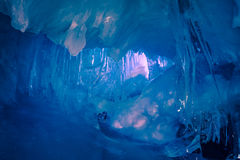 Blue Ice cave in Antarctica Royalty Free Stock Photo