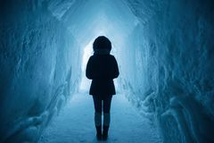 Blue, Ice Cave, Freezing, Light Stock Photography