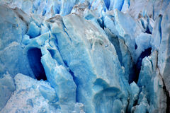Blue ice closeup - Perito Moreno Glacier Argentina Stock Photos
