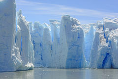 Blue Ice Columns on the Water Stock Photography