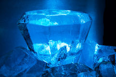 Blue ice cristal Royalty Free Stock Image