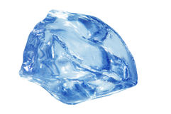 Blue ice cube Stock Photo