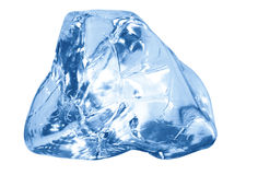 Blue ice cube Stock Image