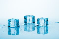 Blue ice cubes Stock Image