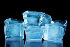 Free Blue Ice Cubes Stock Images - 23035274
