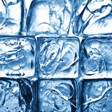 Blue ice cubes stock photography