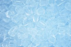 Blue Ice cubes background Royalty Free Stock Photo