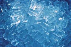 Blue ice cubes Royalty Free Stock Photos