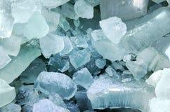 Blue ice cubes Stock Photos