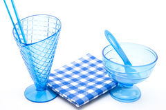Blue ice cups Stock Images