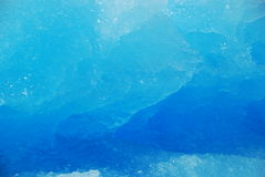 Blue ice. Ice in different shades of blue Stock Image
