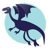 Blue Ice Dragon. Represent a flying Ice Dragon Stock Images