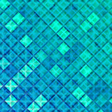 Blue Ice Dynamic Background. Vector Mosaic Texture. Abstract Winter Geometric Wallpaper Stock Photo