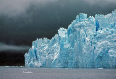 Blue Ice in the Fog Royalty Free Stock Images