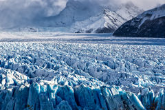 Blue ice formation in Perito Moreno Glacier, Argentino Lake, Patagonia, Argentina Stock Photos