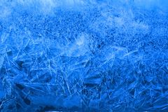 Ice Crystals in Blue Royalty Free Stock Photo