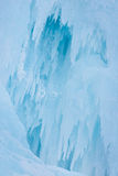 Blue Ice at Frozen Waterfall Royalty Free Stock Images
