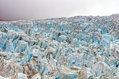 Blue ice at a Glacial Ice fall Royalty Free Stock Image
